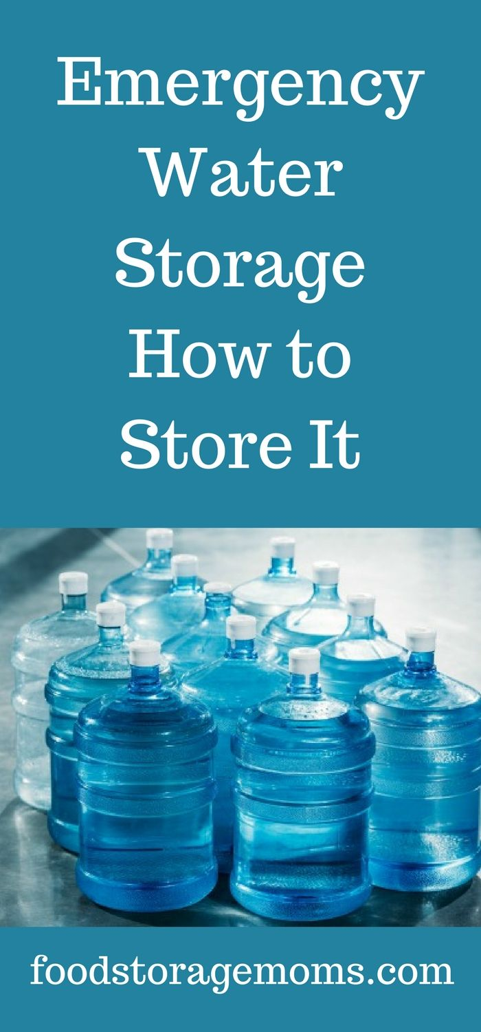 foto How to Store Water Long Term
