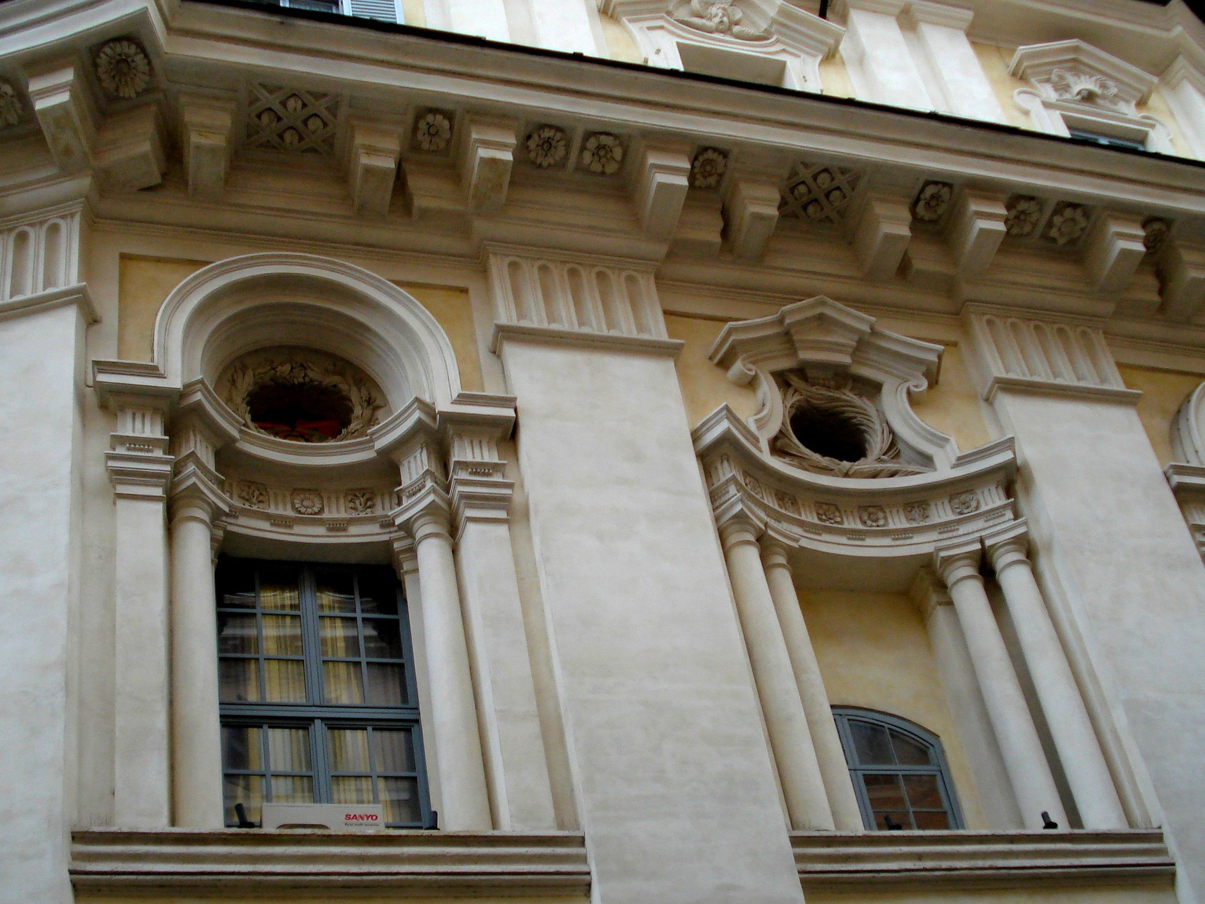 ITALIAN BAROQUE ARCHITECTURE Borromini Windows at Chapel of Collegio di Propaganda Fide Rome