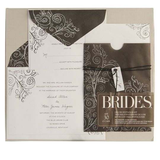 Brides Wedding Invitation Kit: Brides® Chalkboard Invitation KitBrides Chalkboard