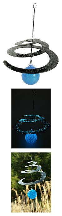 Glow-in-the-Dark Handblown Glass Garden Spiral at The Breast Cancer Site