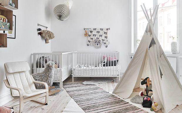 Une déco en noir, blanc et bois Kids rooms, Salons and Bedrooms