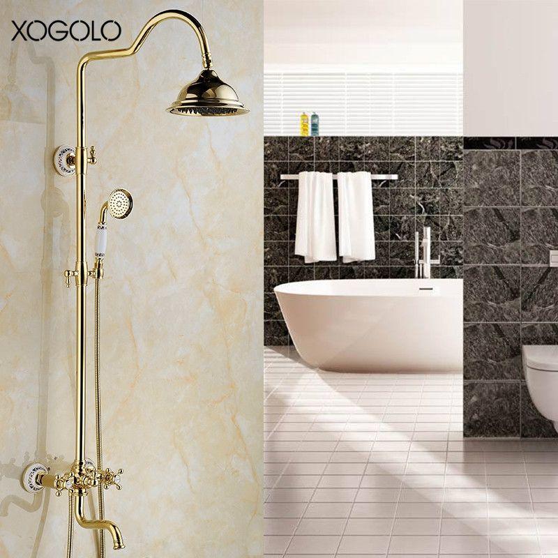Xogolo Solid Brass Rotatable Wall Mounted Bathroom Shower Set - Water-saving-set-for-the-bathroom