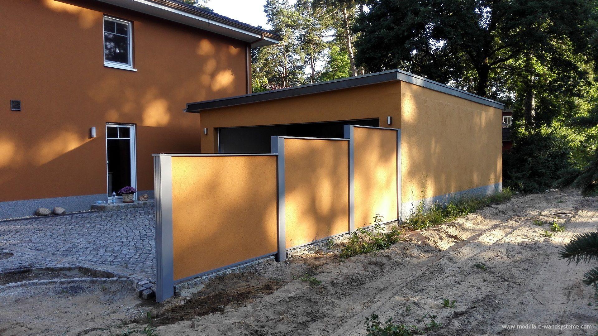 Individuelle Gartenmauer Sichtschutzmauer Gartenmauer