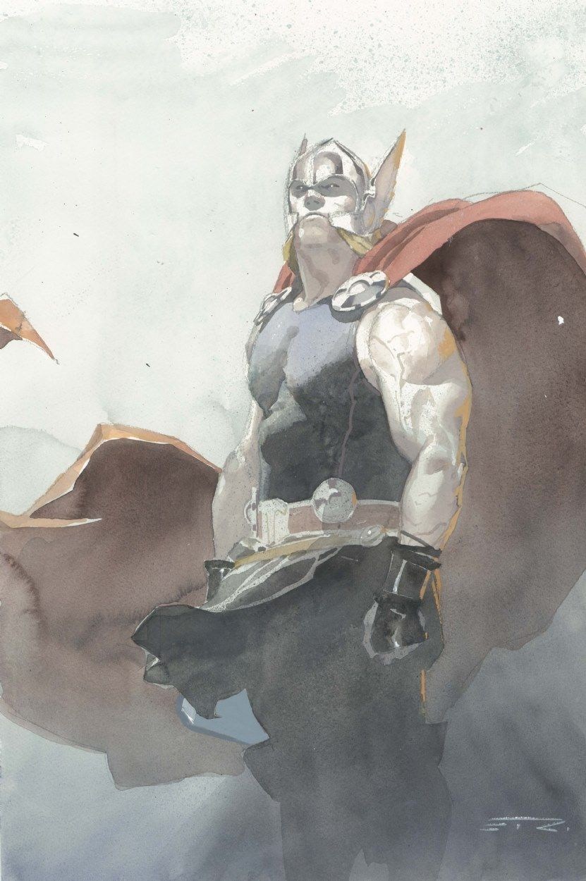 Watercolor books for sale - Anthony S Comic Book Art For Sale Artwork Thor Watercolor Commission La 2014 Signedby Artist Esad Ribic