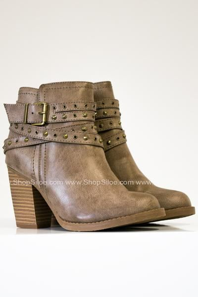 fa284f7e8cd67 Roxy Studded Taupe Booties #shoes #boots #bootie #fashion #women ...