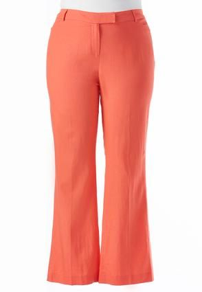 1e9efdf2e12 Cato Fashions Classic Fit Essential Linen Trousers-Plus  CatoFashions