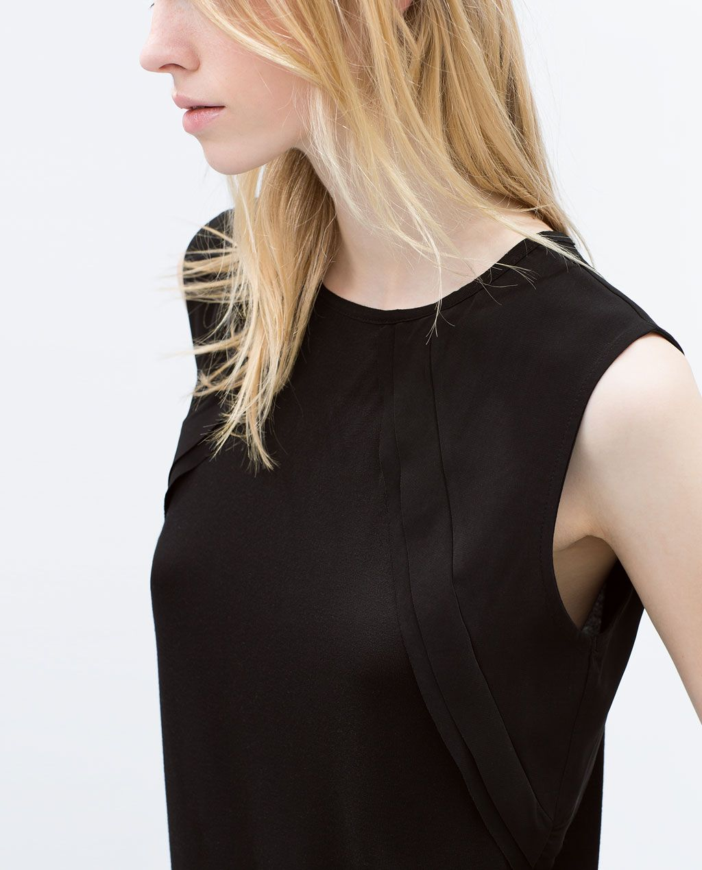 Zara black t shirt india - T Shirt With Frill On Sleeves View All T Shirts Woman Zara India