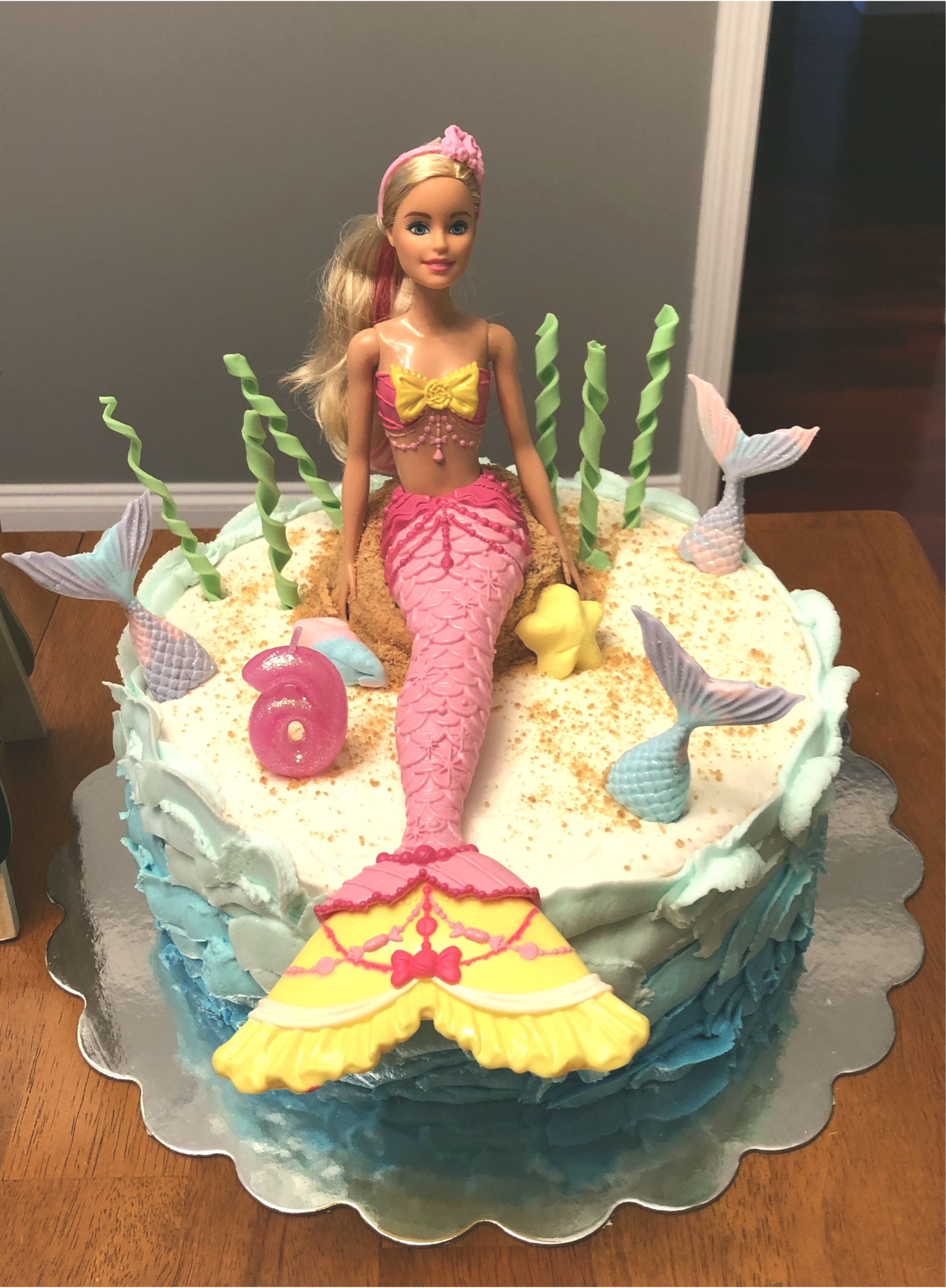 Photo of Barbie-Puppe-Meerjungfrau-Kuchen #BarbiePuppe #barbiedollcake #doll