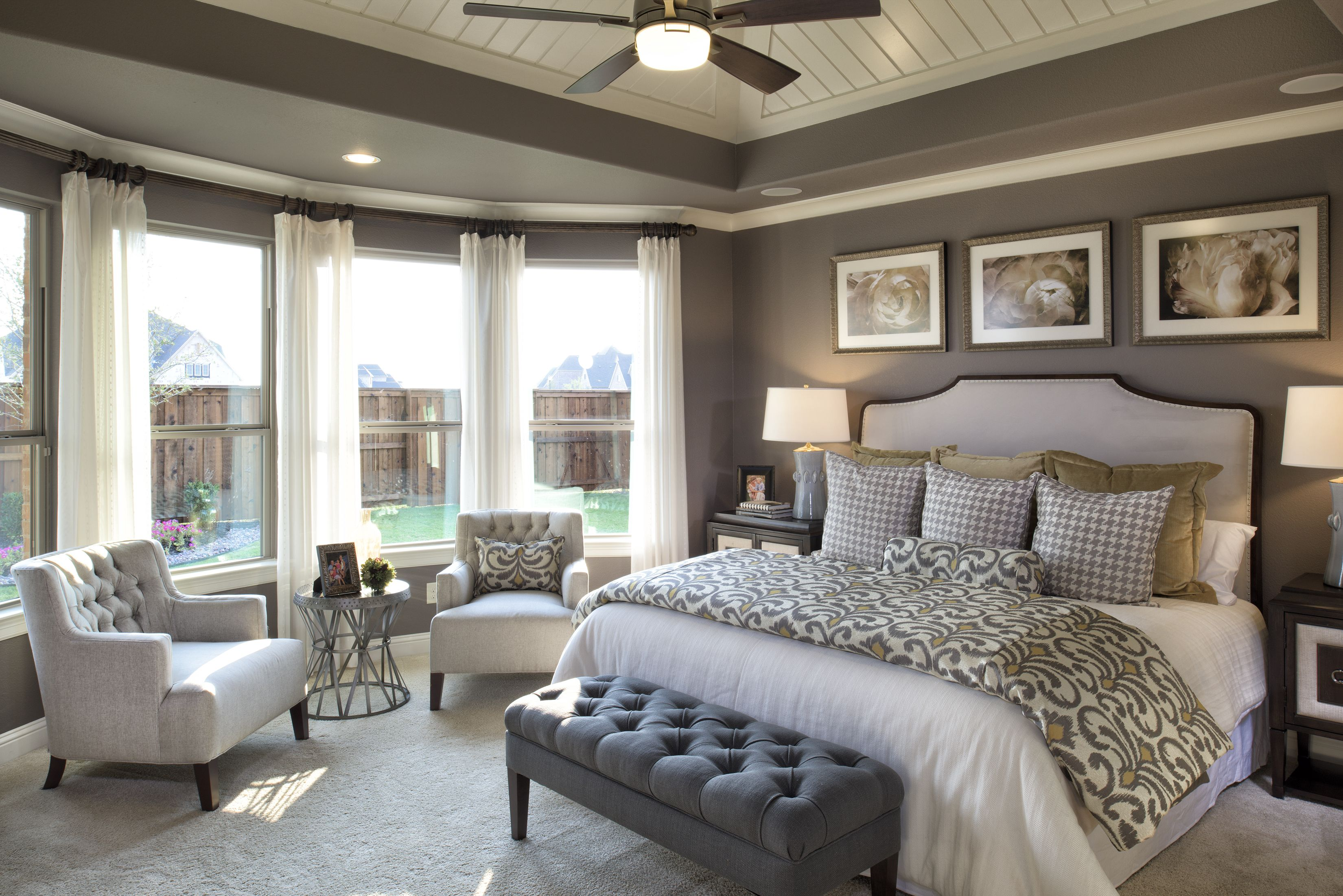 Pure Elegance Master Bedroom Just Needs A Privacy Hedge And Flowers Flowers Flowers Outside Those Gorg Master Bedrooms Decor Remodel Bedroom Home Bedroom