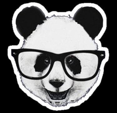 Hipster Panda Sticker By A P Panda Art Hipster Stickers Panda Head
