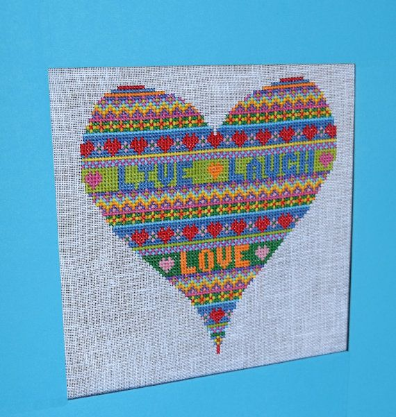 Cross Stitch Sampler Pattern. PDF Download. Fair Isle Design ...