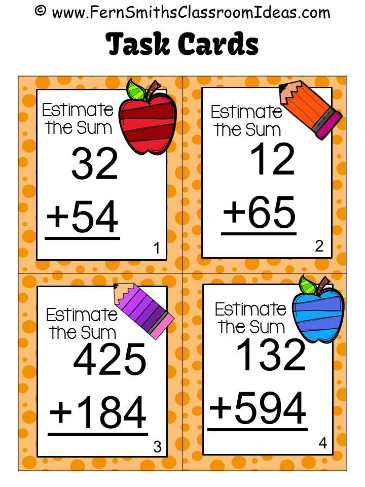 3rd Grade Go Math Chapter 1 Lesson 13 Rounding to Estimate Sums - estimate sheet