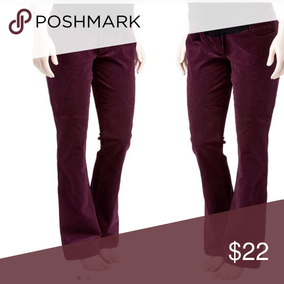 711eed6c5688b Old Navy maternity corduroy pants Wine color. Used a handful of times. Boot  cut. Full belly panel. Actual pics upon request. Have these in charcoal  (gray) ...