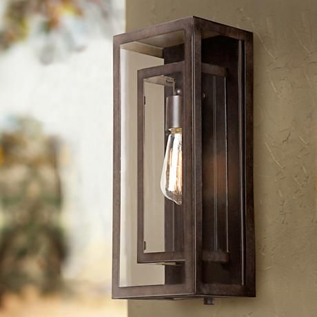 "Possini Euro Double Box 15 1/2""-H Bronze Outdoor Light - #3X096 | LampsPlus.com"