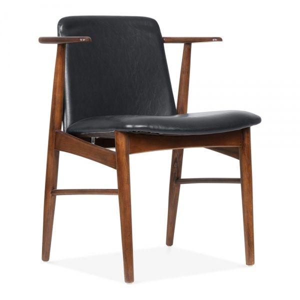 Tremendous Cult Living Archie Wooden Dining Armchair Black Faux Machost Co Dining Chair Design Ideas Machostcouk