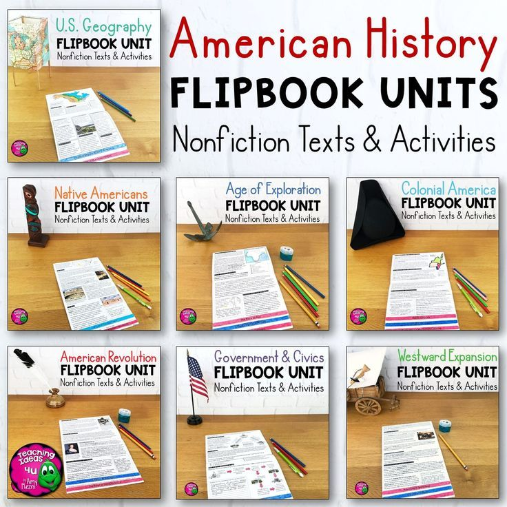 American History 7 Unit Bundle Informational Texts, Maps