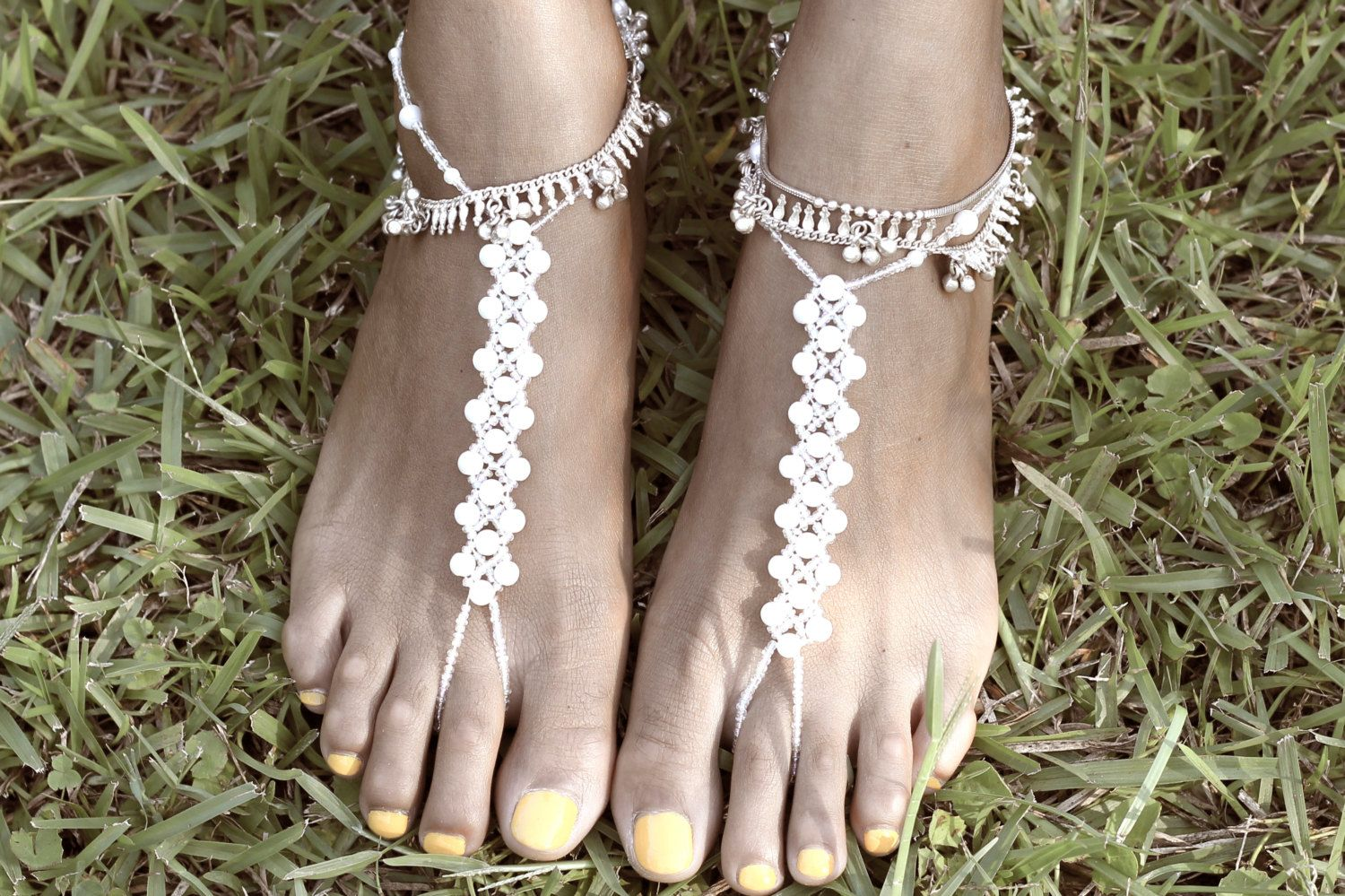Barefoot Sandals - Enchanted Pearl