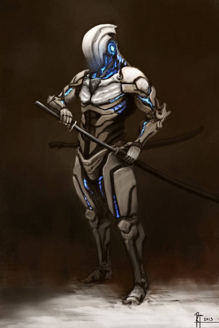 """Snow Assassin Cyborg"" | Artist: Robin Tran | Armaduras ..."