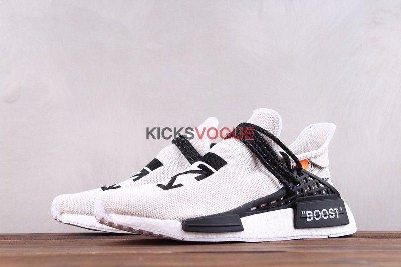 Custom Off-White x Adidas NMD HU Pharrell Human Race White Black F99768 -  NMD - Adidas 20f1b8dd23
