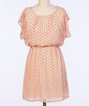 Look at this #zulilyfind! Hello Miss Orange Square Blouson Dress by Hello Miss #zulilyfinds