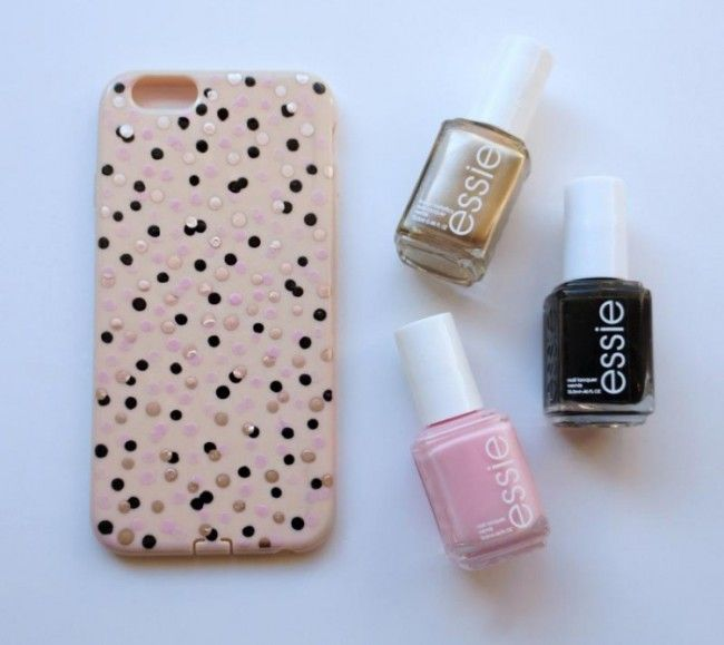 was man mit nagellack alles machen kann sogar eine so s e iphone handyh lle phone case. Black Bedroom Furniture Sets. Home Design Ideas