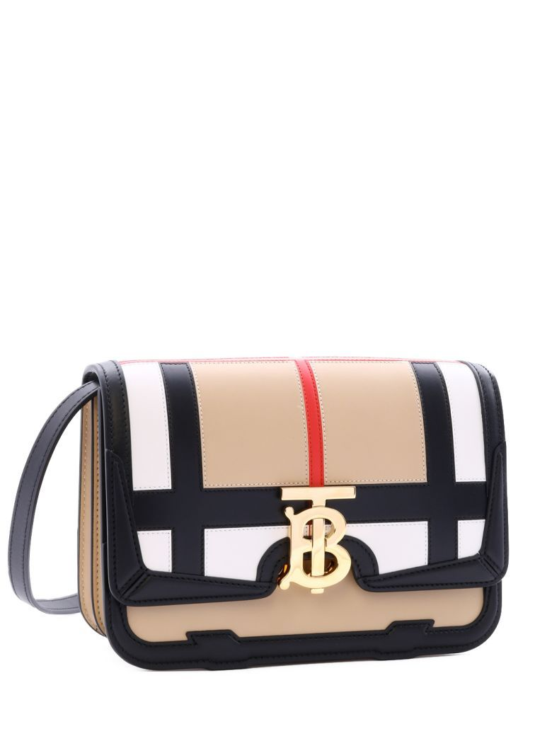 Burberry Tb Bag Vintage Check In Black | ModeSens