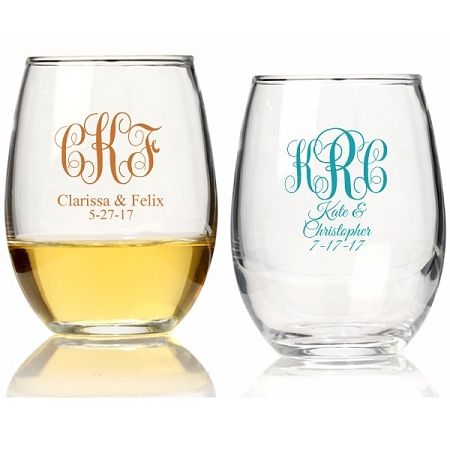 Buy The Live Laugh And Love Personalized 9 Oz Stemless Wine Glass Or Other Glassware From Wedding Favors Unlimited Today