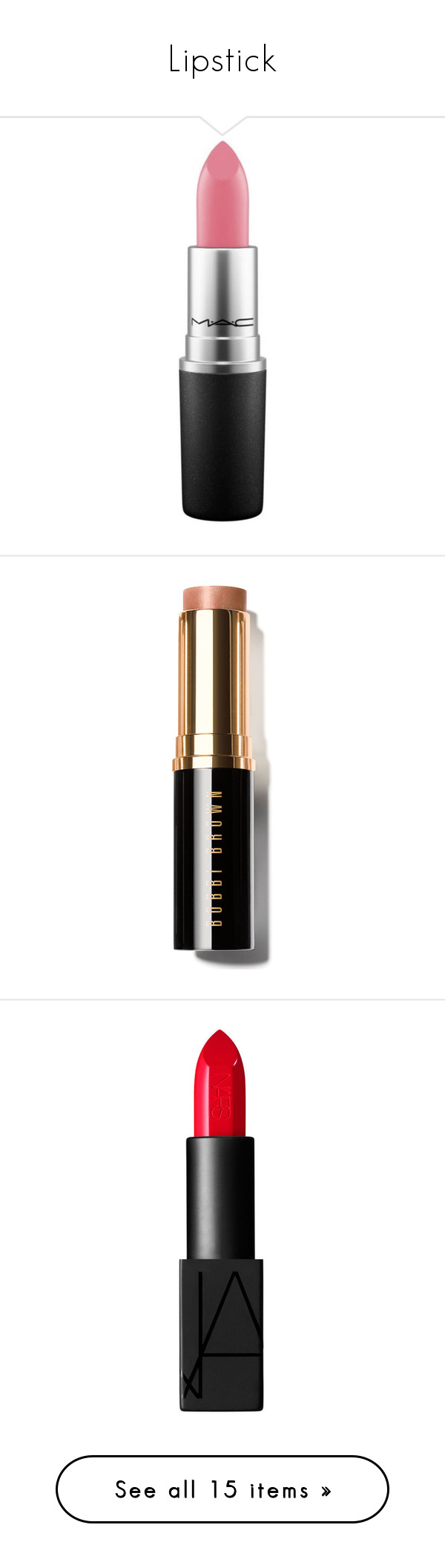 Lipstick by xo-nikita liked on Polyvore featuring beauty
