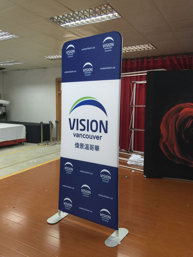 Exhibition Stand Banner : Floor stand banner stand tension fabric display banner stands