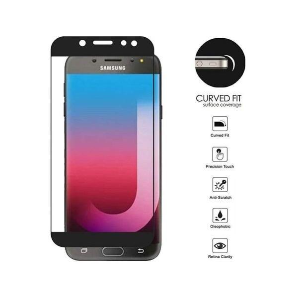 Galaxy J7 Refine Full Edge Tempered Glass Screen Protector, Black