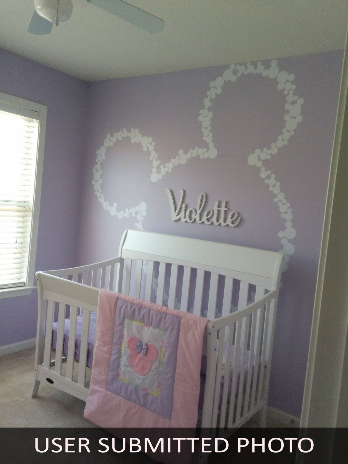 Best Baby Girl Room Design: Wall Decal Art Decor Mickey Mouse Baby Name Wall By