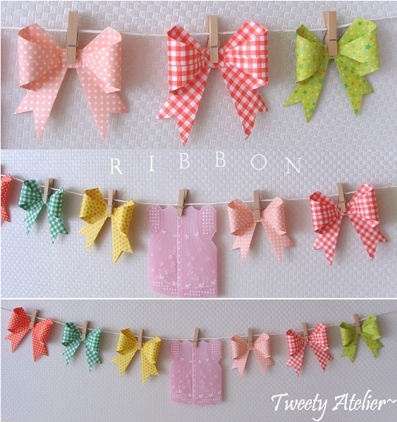 Origami Bows Diy Pinterest Origami Craft And Garlands