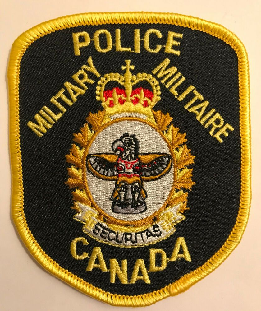 Military Militaire Securitas Canada Police Patch (With