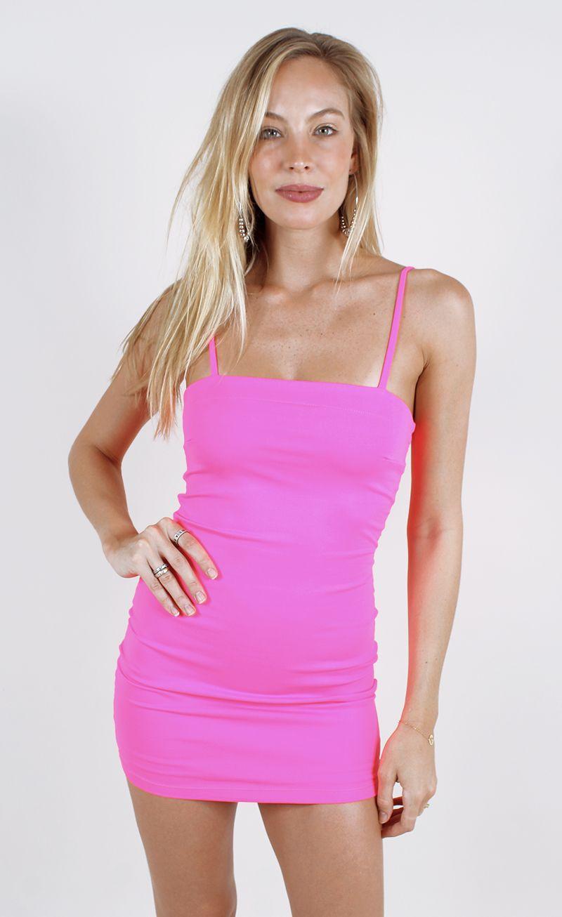 d715e71d0 OMG... DESEJO DA VIDA! - vestido shine neon rosa
