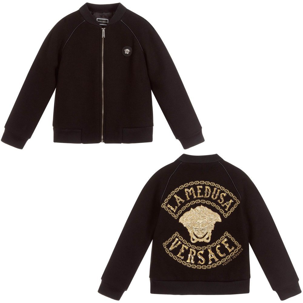 46abb996de03 Young Versace - Black MEDUSA Bomber Jacket