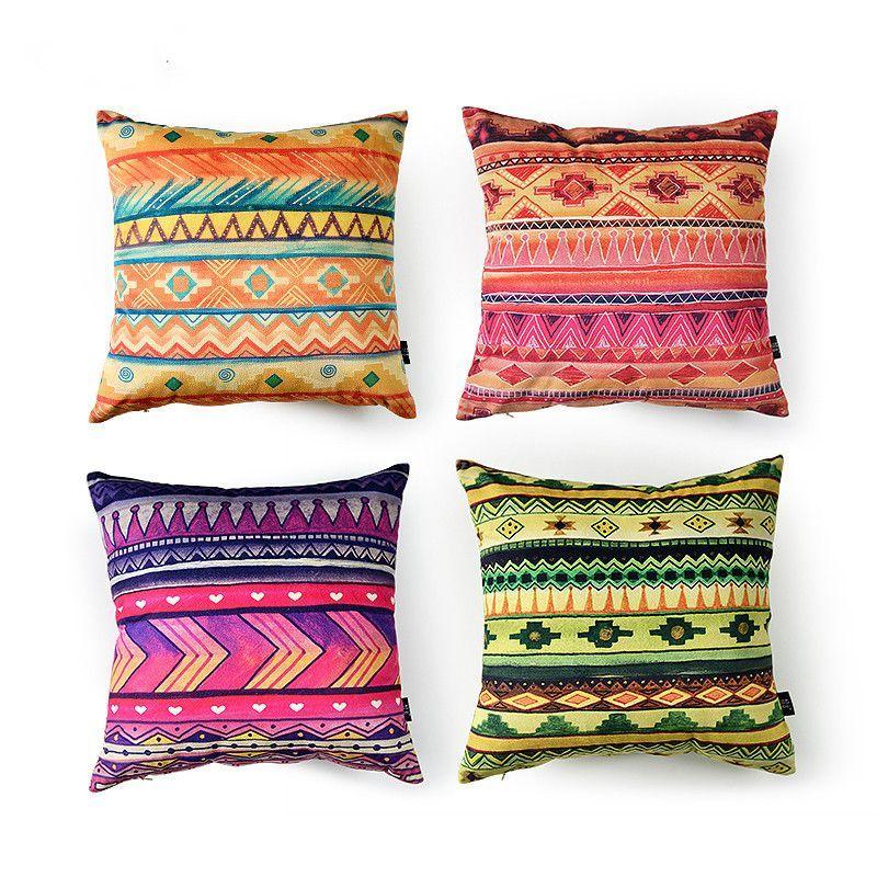 Boho Ethnic Striped Creative Pillow