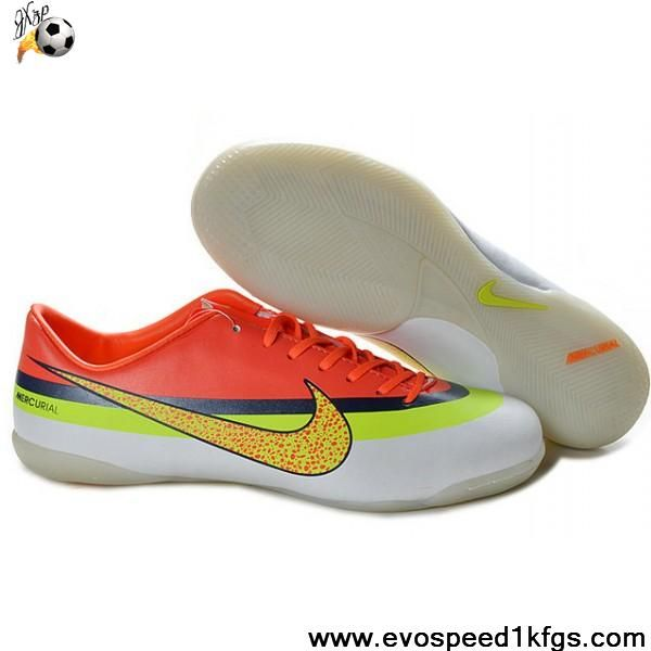 new product 35371 c0441 Buy Nike Mercurial Vapor IX IC Victory IV CR IC Indoor Boots white yellow  red Football Shoes On Sale