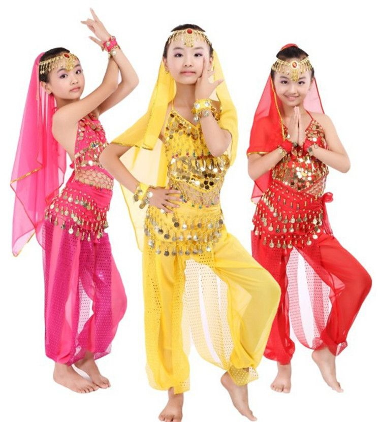 82aec98a6 Click to Buy    New Handmade Children Belly Dance Costumes Kids ...