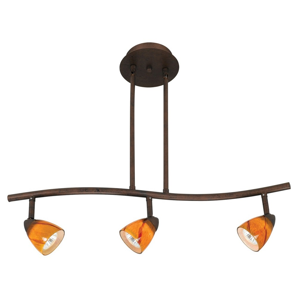 Cal Lighting Rust Red Finish Metal Serpentine Pendant With