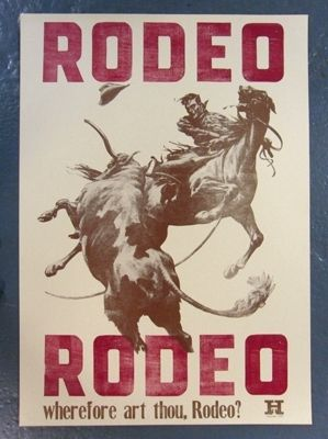 Rodeo Rodeo Poster By Jim Moran The Pinfinity