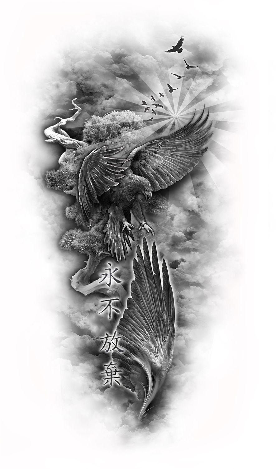 www.customtattoodesign.net wp-content uploads 2014 04 eagle-sleeve ...