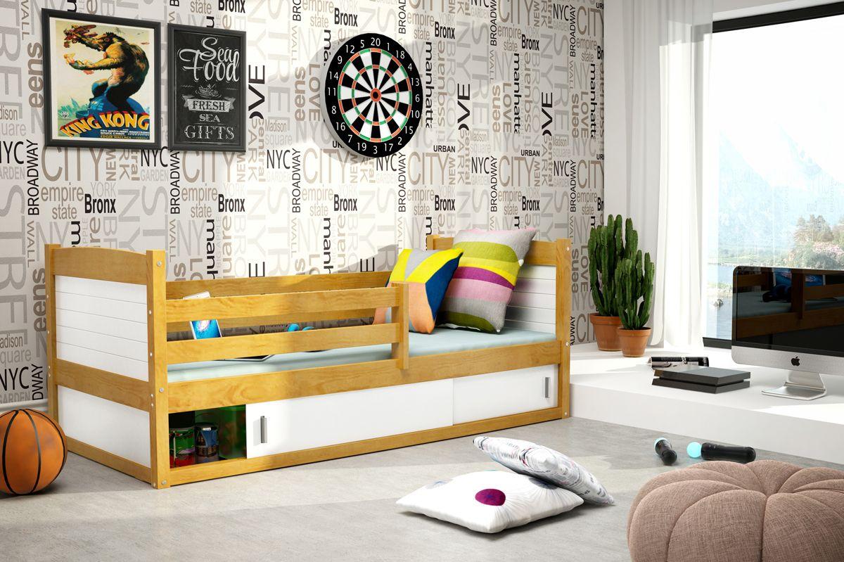 Etagenbett Rico 3 : Kinderbett nico mit bettkasten u erle verschiedenen