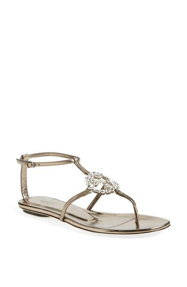 5879558d6562 Gucci  GG  Crystal Thong Sandal available at  Nordstrom