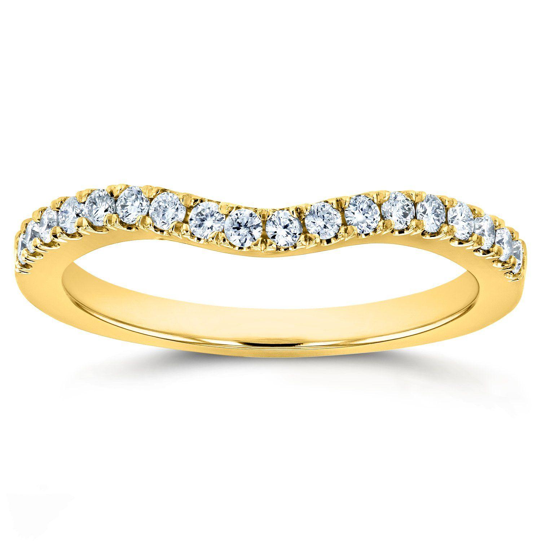 Lab Grown Diamond Womens Curved Wedding Band 1/5 CTW 14k