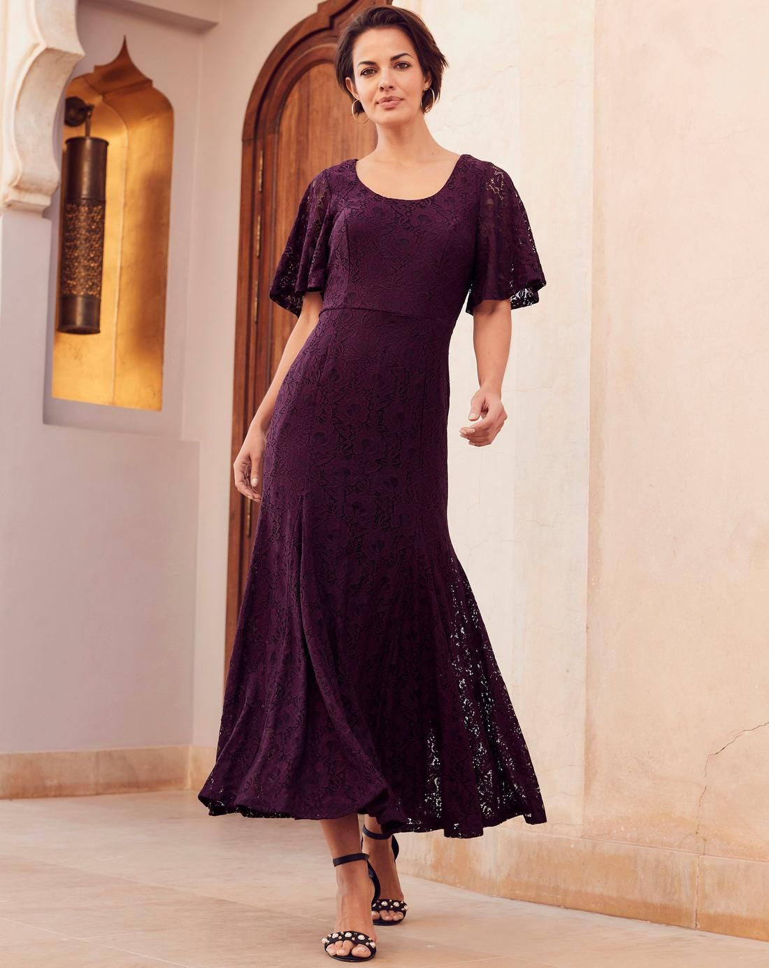 Joanna Hope Lace Maxi Dress Lace Maxi Dress Dresses 1920s Fashion Dresses [ 1383 x 1100 Pixel ]