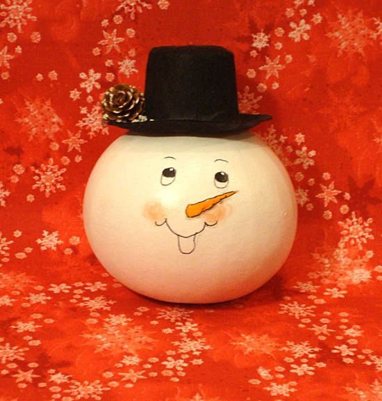 Snowman Head Gourd Top Hat Handpainted By Kaydeecountrycottage On Etsy 8 75 Gourds Hand Painted Etsy