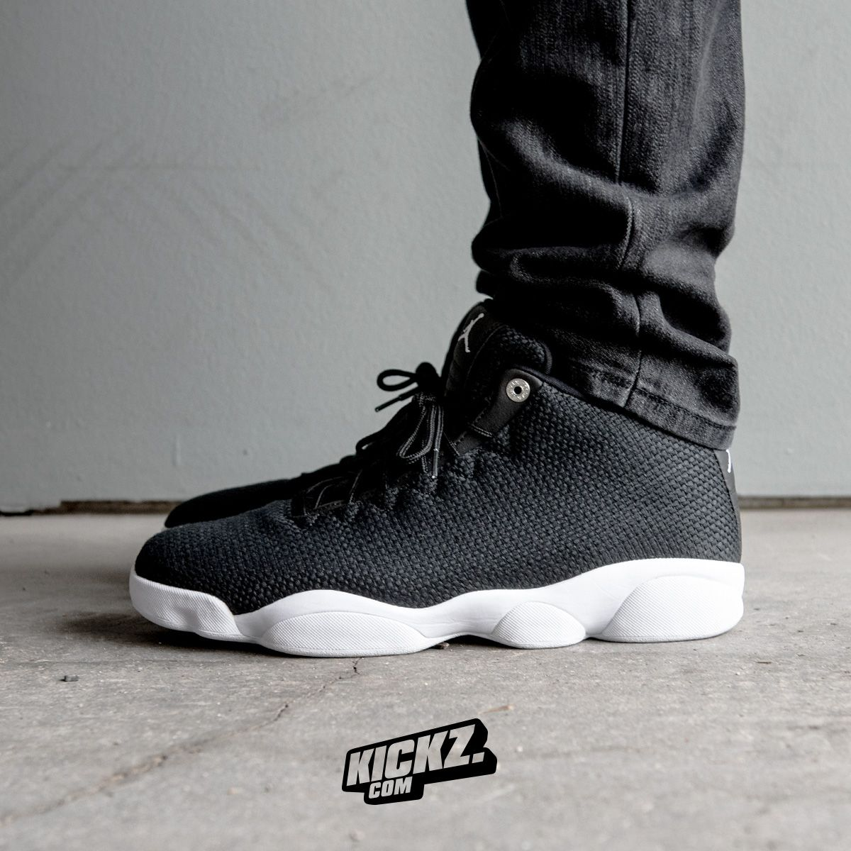 22c696d7822 A black woven upper and an all white Jordan XIII sole make the new Jordan  Horizon Low so fresh and so clean.