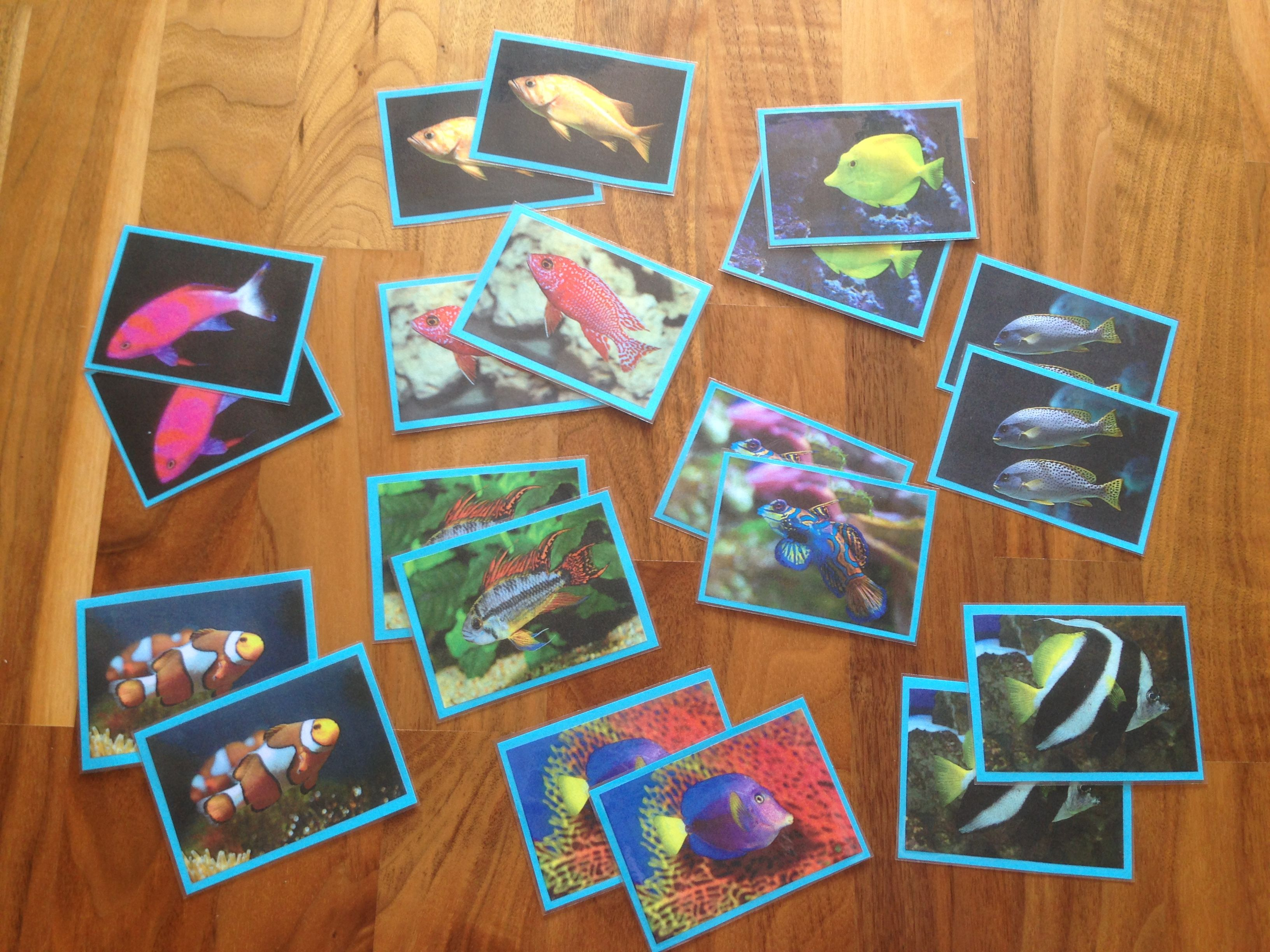 Matching Game Fish - Memory Fische | Selfmade Games / Selbstgemachte ...
