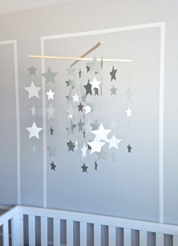 mobile etoiles   Grossesse   Pinterest   Mobile étoiles, Étoiles ...