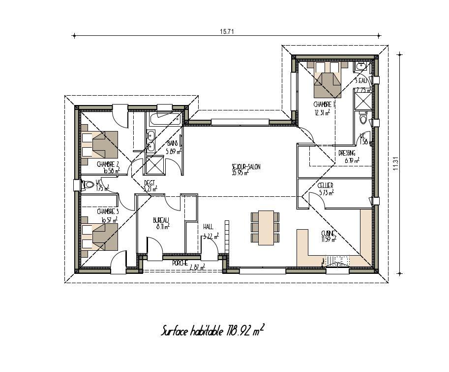 Plan de maison moderne et design (projet n°1) Plans de maisons - plans de maison moderne